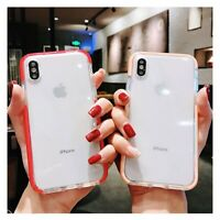 For iPhone XS Max XR Transparent Phone Case Ultra Thin Silicone Rubber Gel Cover