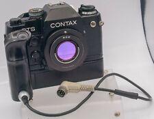Untested - Contax RTS II Quartz 35mm Film SLR Camera & W-6 Motor Drive