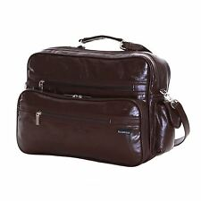 Slimbridge Kamen Real Leather Travel Carry on Cabin Hand Luggage Under Seat Gym