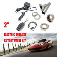 "2"" Electric Stainless Exhaust Cutout Cut Dump Valve Switch With Remote Control"