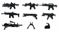 Weapons Pack V1 Army Weapons (P16) Compatible with toy brick minifigures M4 Gun