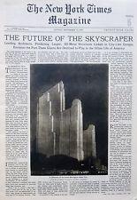 SKYSCRAPER RADIO CITY INDIA GANDHI MULROONEY ALBERT 9-1931 September 13 NY Times