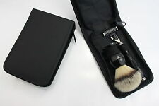 Smart travel set comprises a Gillette Mach 3 Razor and Synthetic Silver tip hair