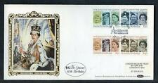 Great Britain 60th Birthday of HM Queen Elisabeth 2nd  silk first day cover #12