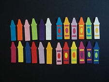 Quickutz die cut Crayon shapes for School Teacher Cards Projects