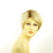 Perruque femme courte méchée blond racine blond foncé ALICIA YS