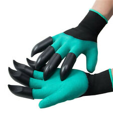 Garden Genie Gloves with Fingertips Claws on two Hand for Digging & Planting New