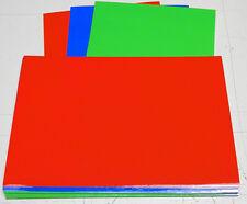 florescent colors gloss vinyl,6 inch x 9 inch x .003 sheets (50 shts) see pics