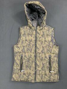 Zara Man Puffer Vest Camo Hooded BNWT Medium