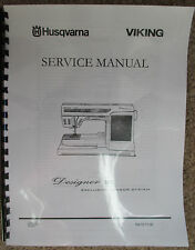Husqvarna Viking Designer SE Sewing Embroidery Machine Service Repair Manual