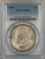 1900 Morgan Silver Dollar $1 Coin PCGS MS-62 (4A)