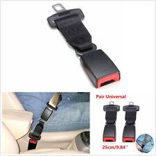 2 X 25cm/9.84'' Black Vehicle Seatbelt Seat Belt Extender Buckle 2.1cm Universal