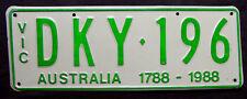 """Nummernschild Australien aus Victoria """"AUSTRALIA 1788 - 1988"""" 200 Jahre. S-3791."""