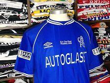 CHELSEA FC home 1999/00 shirt - ZOLA #25 - Italy-Parma-Napoli-Maglia-Jersey (L)