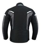 Herren Motorradjacke Mesh Motorrad Jacke schwarz Bekleidung Protektoren Jacke