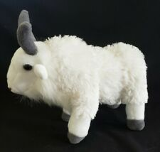 "K & M International Wild Republic Plush Mountain Goat, White and Gray 12"", 2012"