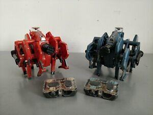 HEXBUG Battle Ground Blue & Orange Tarantula Remote Control Robots Working Order