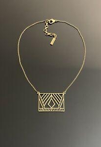 Silpada Gate brass Geometric necklace