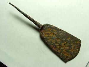 Rare ancient Roman JAVELIN tanged blade arrowhead ballista bolt head artifact