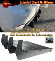 "Pair 8.25/"" x 4/"" Front Bumper Lip Splitters Black Winglet Blade For   Mitsubishi"