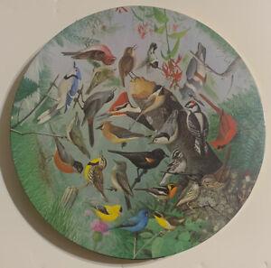 1970's Springbok SEALED William Dilger FAMILIAR BIRDS 500 Piece Circular Puzzle