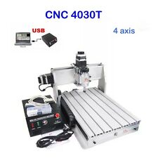 4 Axis Cnc Router Engraver Engraving Machine 3040t 3d Cutter Drilling Fantastic