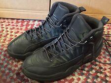 Nike Air Jordan 12 XII BQ6851-001 SIZE 10 GORGEOUS! Winterized Triple Black