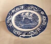 "Staffordshire Liberty Blue 12"" Platter"
