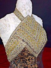 HAUTE COUTURE DRESS. SILK BROCADE  AND THREADS  METALLIC. FRANCE. CIRCA 1960