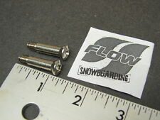 NOS New Flow Snowboard Binding Bolt Screw Pin Rod Replacements Qty of 2