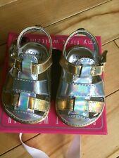 My First Stuart Weitzman Infant Girls Baby 1 Shoes Metallic Silver Gold Sandals