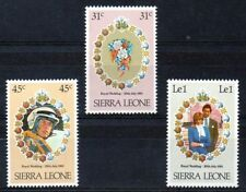 Sierra Leone 1981 Royal Wedding MNH set