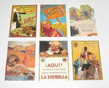 Lot de 6 Carte Postale Reproduction Affiche Publicitaire Ancienne Pub k