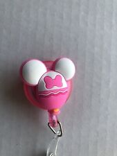 Retractable Badge Holder Reel Mini Mouse Original/Pink/Holiday