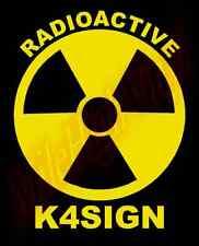 CUSTOM Radioactive Ham Amateur Radio Operator Vinyl Decal Window Sticker