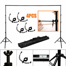 10' Adjustable Photography Background Support Stand Studio Backdrop Crossbar Kit