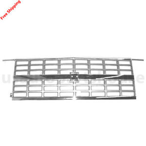 New Front Center Grille Chrome/Silver, With Dual Head Light For 89-91 GM1200169