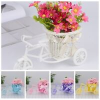 Rattan bicycle Storage Basket Flower Vase Plant Stand Holder Bike Design