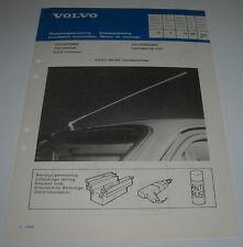 Einbauanleitung Volvo 340 / 360 hatchback / sedan Dachantenne Dach Antenne 1983!