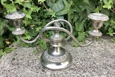 VINTAGE SILVER PLATED SHORT TABLE CANDELABRA ~ WEDDING DECOR SHABBY CHIC