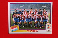 PANINI WORLD CUP KOREA 2002 02 N.133 PARAGUAY TEAM  WITH BLUE BACK MINT!!!