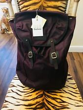 NEW BARBOUR WAX & LEATHER CLASSIC TARTAN LINED BACKPACK BAG R.R.P. £149.00