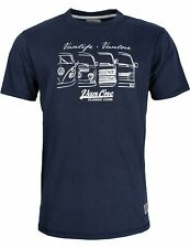 Herren T-Shirt VW Bulli Kult-Auto T1 Bus Surfer Shirt »We are Family« Blau NEU