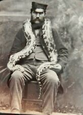 More details for boa constrictor victorian photograph circa1880 + zoo keeper snake herpetoculture