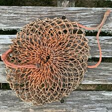 Weathered MAINE Lobster Trap BAIT BAG Fish Net Nautical Decor Recycle Fishnet