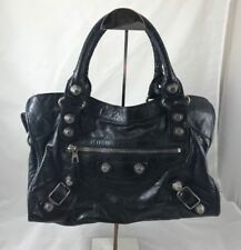 BALENCIAGA Giant 21 Silver Part Time Bag in Black AUTHENTIC