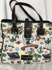 Disney cruise Line  DCL EUC Dooney And & Bourke Retired Sketch Print Large Tote