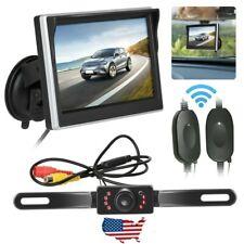 "Night Vision Wireless Car Backup Camera Rear View System w/ 5"" TFT LCD Monitor"