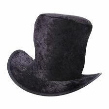 Boy Childs Top Hat Black Velour Victorian Artful Dodger Willy Book Fancy Dress