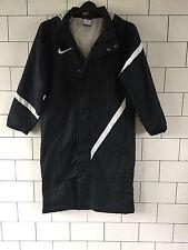 La vieja escuela vintage retro Urbano Negro Abrigo Trench entrenador atléticos tamaño de Reino Unido 12 #1